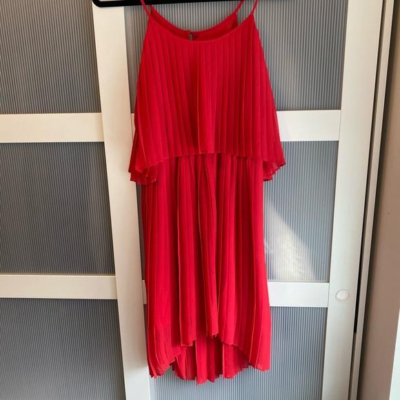 Express pleated dress